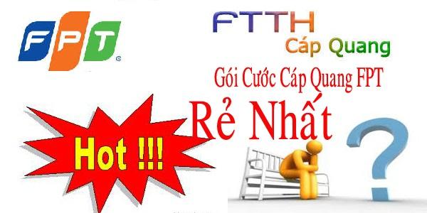 Khuyến mãi lắp đặt cáp quang FPT và truyền hình FPT