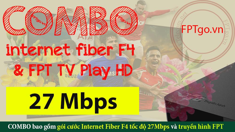 Gói cước COMBO Internet Fiber F4 và truyền hình FPT