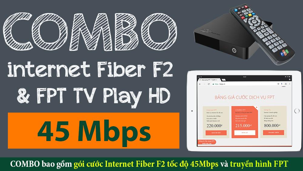 Gói cước COMBO Fiber F2 - FPT Thái Bình