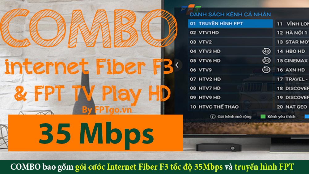 Gói cước Internet Cáp quang FPT Fiber F3