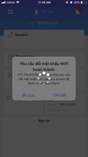 fpt thái bình hướng dẫn đổi mật khẩu wifi